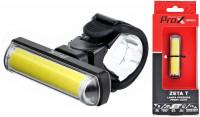 LAMPA PRZÓD PROX ZETA T COB LED 80LM, USB 500 mAh