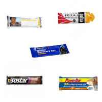 5 próbek batonów energetycznych