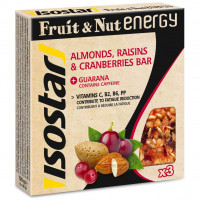 Isostar Fruit & Nut Energy Bar - 3 x 40g